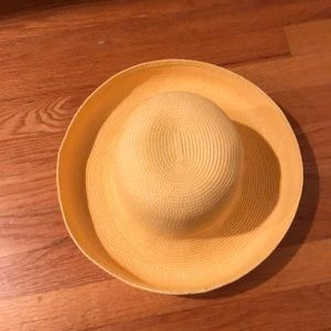 NWOT TALBOTS SUMMER BRIMMED HAT YELLOW